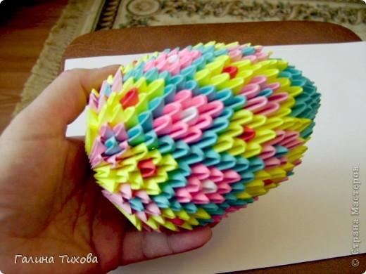 Мастер-класс Поделка изделие Оригами китайское модульное Пасхальное яйцо Мастер-класс Бумага фото 27