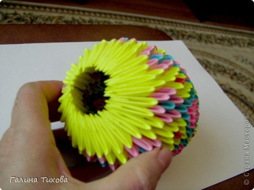 Мастер-класс Поделка изделие Оригами китайское модульное Пасхальное яйцо Мастер-класс Бумага фото 28
