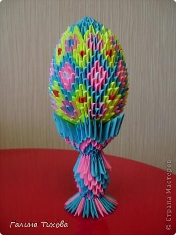 Мастер-класс Поделка изделие Оригами китайское модульное Пасхальное яйцо Мастер-класс Бумага фото 48