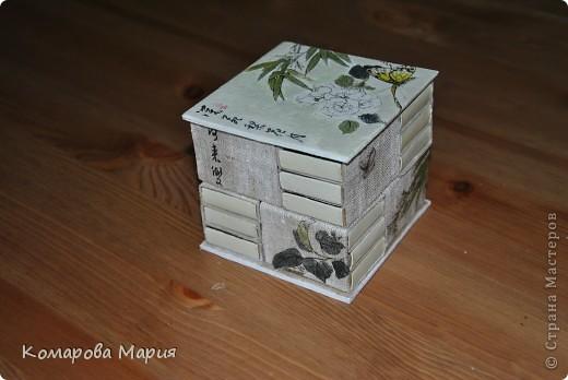 Мини-комодик для мелочей из спичечных коробков фото 2