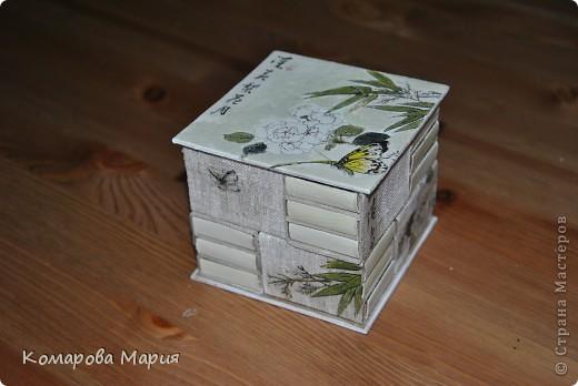 Мини-комодик для мелочей из спичечных коробков фото 1