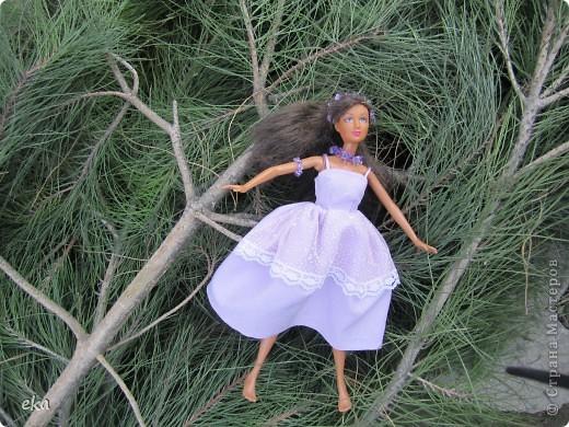 Сплела украшение для своей куклы. Зовут её Лия. фото 3