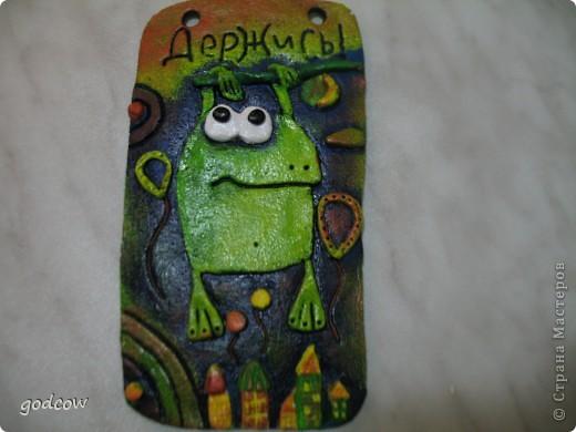 Идея лягушки взята с известного уже всем сайта Цветная рыба. У меня она получилась такая.  фото 2