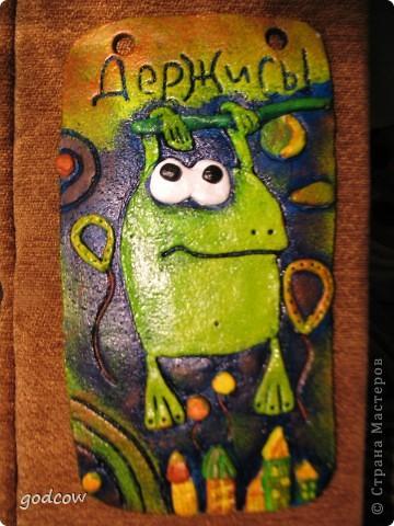 Идея лягушки взята с известного уже всем сайта Цветная рыба. У меня она получилась такая.  фото 1