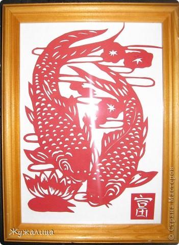 Это подарок для свекрови. Есть приметы в вышивке, что ЖУРАВЛИ (желательно пара журавлей рядом с сосновой веткой или деревцем) - один из самых главных символов здоровья. Вот я и решила вырезать ей такую картину.  фото 4