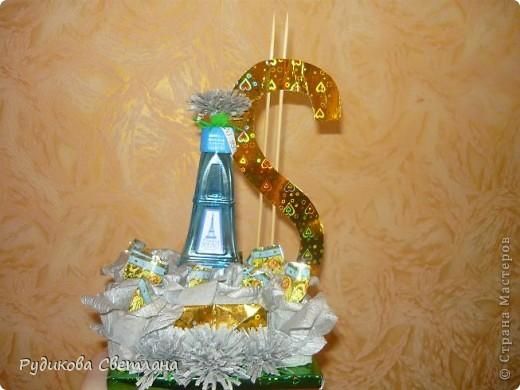 """Подарок куму на день рождение, а так как у него есть сеть магазинчиков по продаже наливной парфюмерии """"RENI"""", то и в подарке присутствует одна из многочисленных бутылочек! фото 2"""