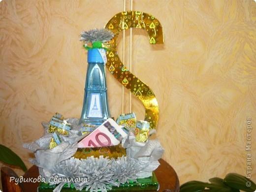 """Подарок куму на день рождение, а так как у него есть сеть магазинчиков по продаже наливной парфюмерии """"RENI"""", то и в подарке присутствует одна из многочисленных бутылочек! фото 1"""