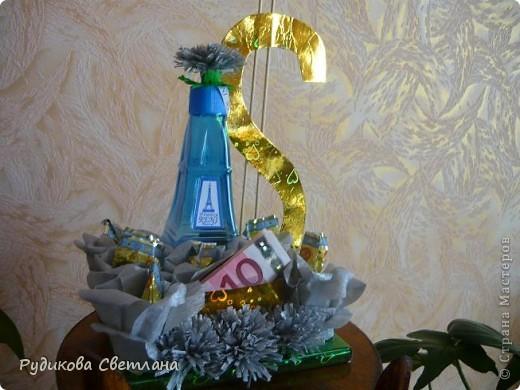 """Подарок куму на день рождение, а так как у него есть сеть магазинчиков по продаже наливной парфюмерии """"RENI"""", то и в подарке присутствует одна из многочисленных бутылочек! фото 4"""