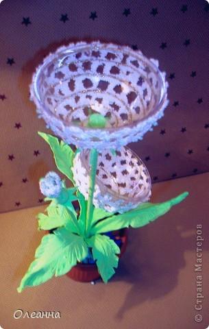 В основе одуванчика -  елочный пластиковый шар и  остатки шарикового пластилина  фото 3