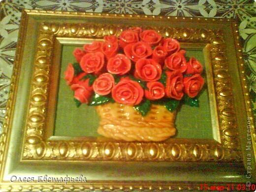 Корзина роз (СОЛЕНОЕ ТЕСТО)
