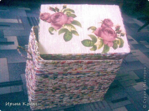 плетеный короб фото 1