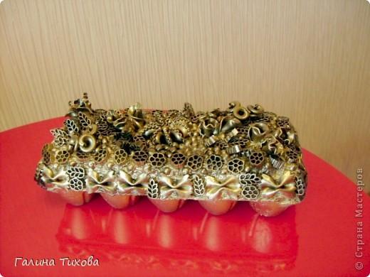 Рамка для фото, декорированная макаронами. фото 7