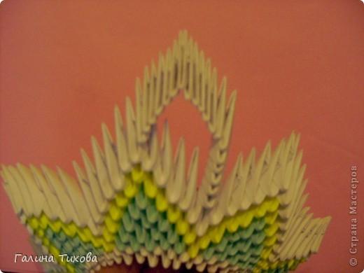 Для создания такой тарелки мне потребовалось: 1679 модулей: 636 белых, 536 голубых, 507 жёлтых. фото 17