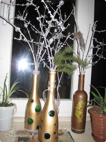 Ну очень хотелось перед праздником новогодние букеты сделать. Сделала:) фото 9