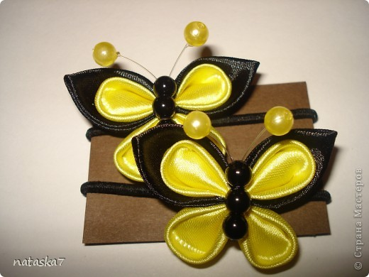 Заколочки,резиночки.Канзаши. фото 8