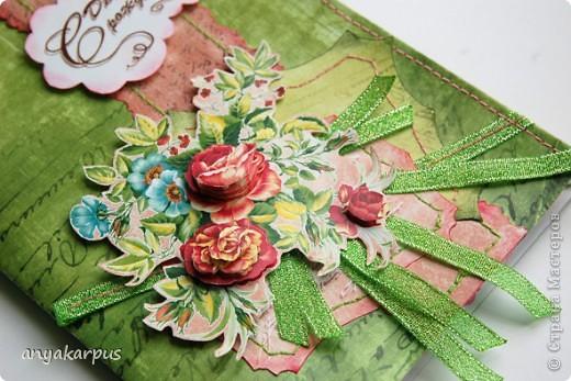 """Это работа Катюшиной мамы. 8 марта уже прошел, поэтому решила сделать открытку для очень замечательной женщины - моей бабушки (вот почему надпись - """"С днем рождения"""") фото 2"""