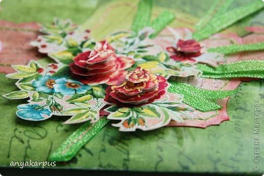 """Это работа Катюшиной мамы. 8 марта уже прошел, поэтому решила сделать открытку для очень замечательной женщины - моей бабушки (вот почему надпись - """"С днем рождения"""") фото 4"""