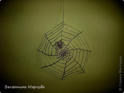 Мастер-класс Поделка изделие Плетение Паучок в серебряной паутине  мастер-класс по просьбе Фольга фото 1