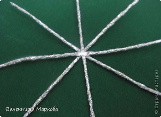Мастер-класс Поделка изделие Плетение Паучок в серебряной паутине  мастер-класс по просьбе Фольга фото 4
