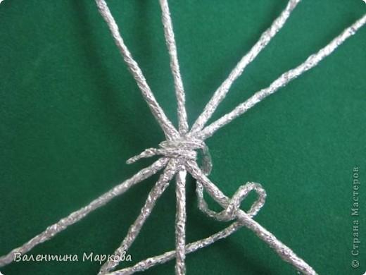 Мастер-класс Поделка изделие Плетение Паучок в серебряной паутине  мастер-класс по просьбе Фольга фото 6