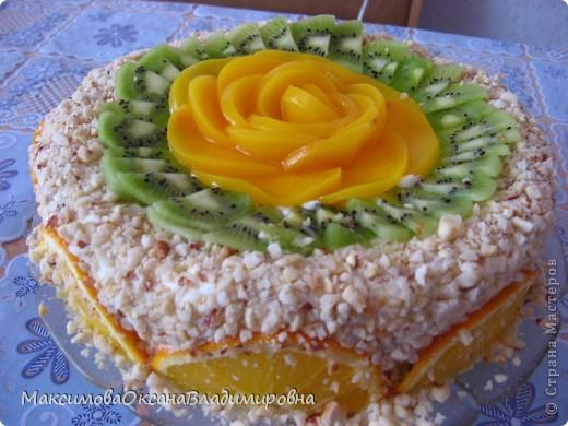 Сливочный фруктово-ягодный тортик фото 1