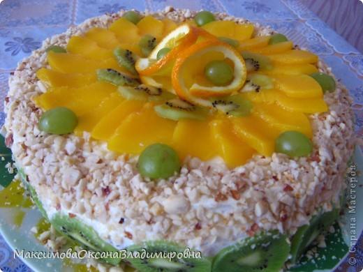 Сливочный фруктово-ягодный тортик фото 2