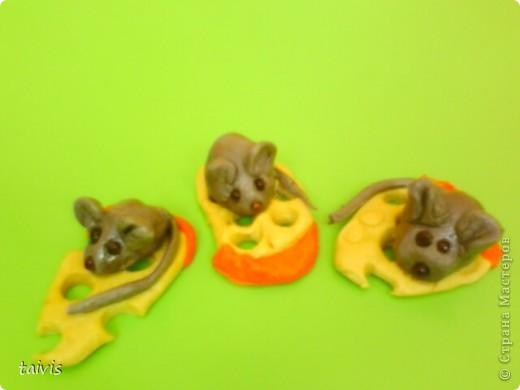 Этих мышек слепили детки старшего дошкольного возраста.  фото 2
