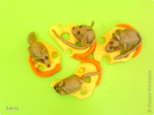 Этих мышек слепили детки старшего дошкольного возраста.  фото 3