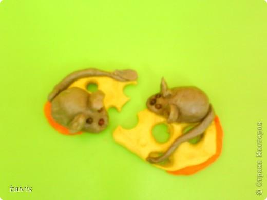 Этих мышек слепили детки старшего дошкольного возраста.  фото 4