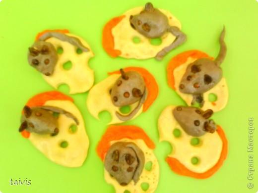 Этих мышек слепили детки старшего дошкольного возраста.  фото 5