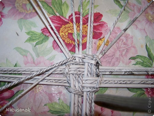 плетем вот такую Пасхальную подставку-плетенку фото 12
