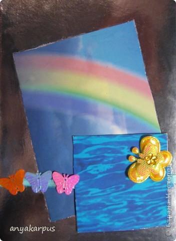 Я на работе, а дочка (9 лет) решила сделать еще одну открытку по скетчу: