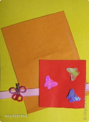Пока моя дочь творила свою открытку http://stranamasterov.ru/node/169830, к ней заглянула двоюродная сестричка. И тоже захотела ТВОРИТЬ: фото 1