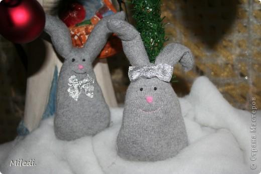 Милые зайчатки,вторая жизнь любимого джемпера фото 1