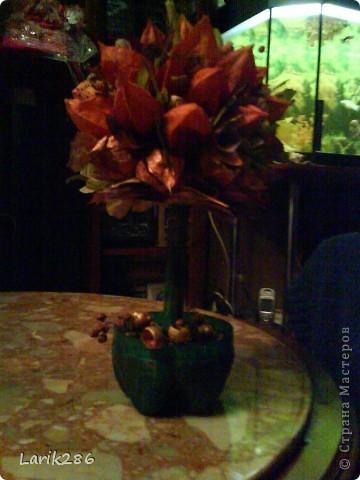 Моя девочка. Делали поделку для праздника осени. Сказали принести икебану. Мы с дочей сделали дерево. Решила выставить фотки. фото 3