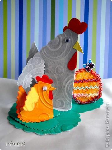 Такую курочку, цыплят, яйцо можно сделать к Пасхе (продолжаю тему сердечек). фото 2