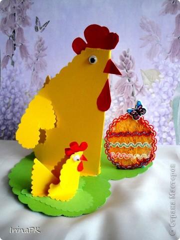 Такую курочку, цыплят, яйцо можно сделать к Пасхе (продолжаю тему сердечек). фото 3