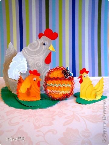 Такую курочку, цыплят, яйцо можно сделать к Пасхе (продолжаю тему сердечек). фото 1