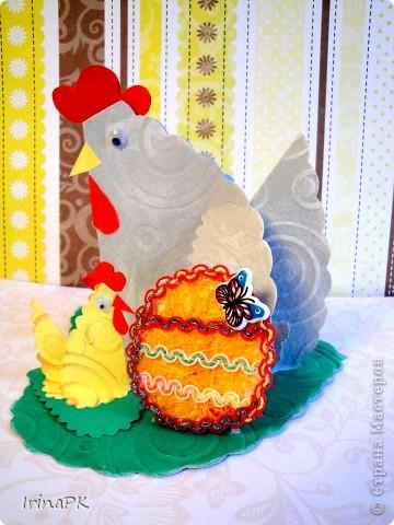Такую курочку, цыплят, яйцо можно сделать к Пасхе (продолжаю тему сердечек). фото 9