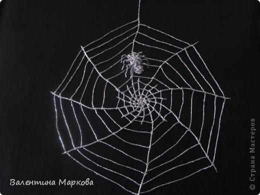 Мастер-класс Поделка изделие Плетение Паучок в серебряной паутине  мастер-класс по просьбе Фольга фото 33