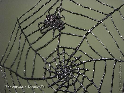 Мастер-класс Поделка изделие Плетение Паучок в серебряной паутине  мастер-класс по просьбе Фольга фото 32