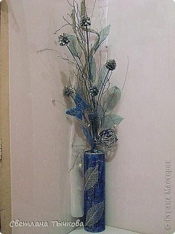 На заказ для интерьера в серебристо-синих оттенках фото 1
