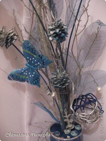 На заказ для интерьера в серебристо-синих оттенках фото 6