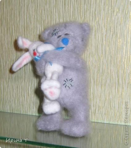 мишка очень любит своего зайку-зефирку... фото 2