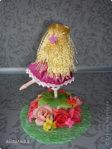 вот она моя первая кукла.....ох и намучилась я с ней...хотела слепить фею,но крылья как-то не смотрелись)))) фото 4