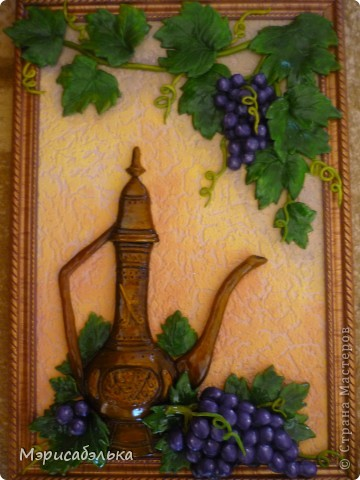 Панно гроздь винограда своими руками