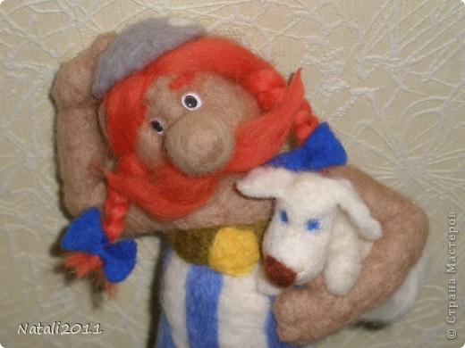Вот такой вот задумчивый и стройный Обеликс у меня получился, со своим маленьким другом. фото 5