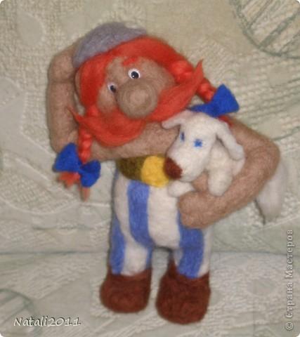 Вот такой вот задумчивый и стройный Обеликс у меня получился, со своим маленьким другом. фото 1