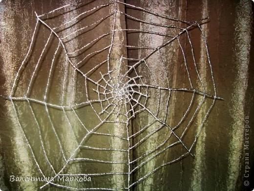 Мастер-класс Поделка изделие Плетение Паучок в серебряной паутине  мастер-класс по просьбе Фольга фото 31