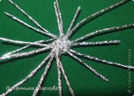 Мастер-класс Поделка изделие Плетение Паучок в серебряной паутине  мастер-класс по просьбе Фольга фото 25